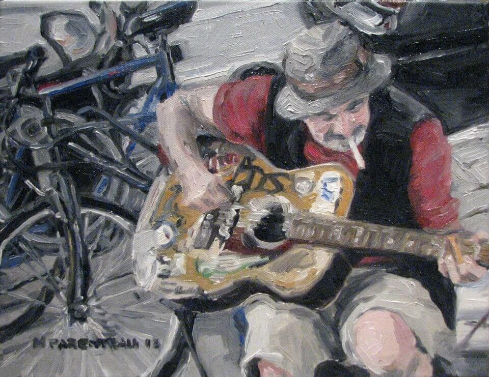 Sliding Street Musician