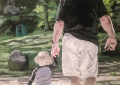 Walking with grandfather