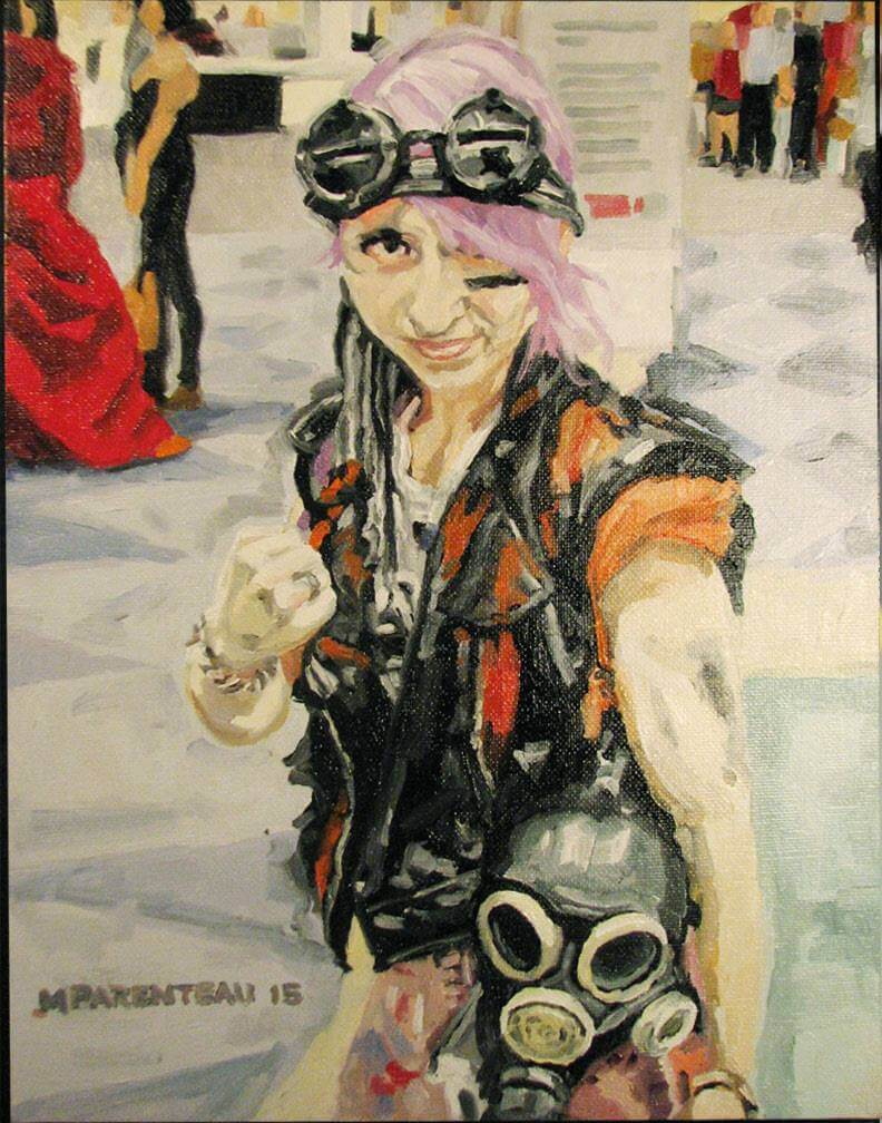Tank Girl - Painted by Mark Parenteau
