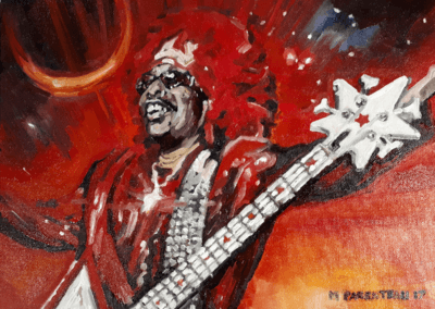 The Funky – (Bootsy Collins, oil on canvas board)