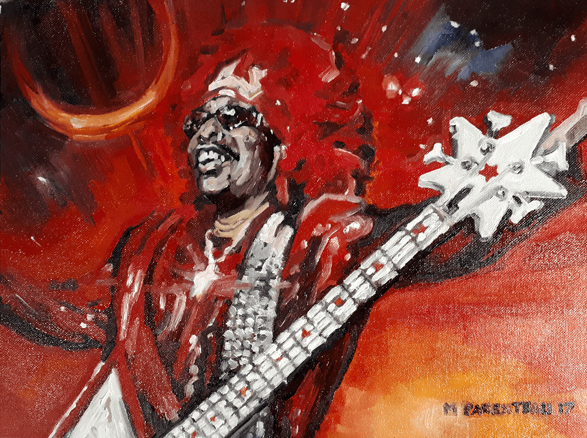 Bootsy Collins - Painted by Mark Parenteau