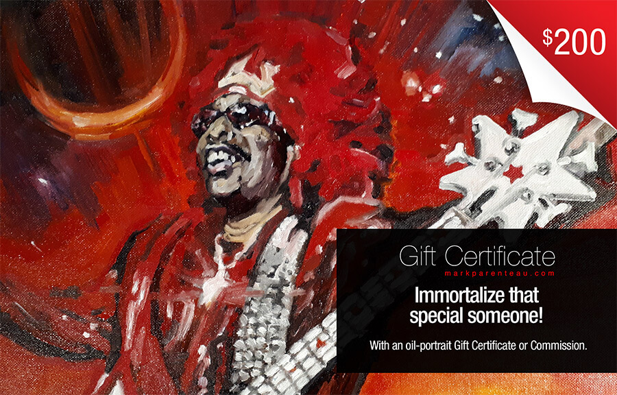 Portrait Commissions and Gift Certificates available